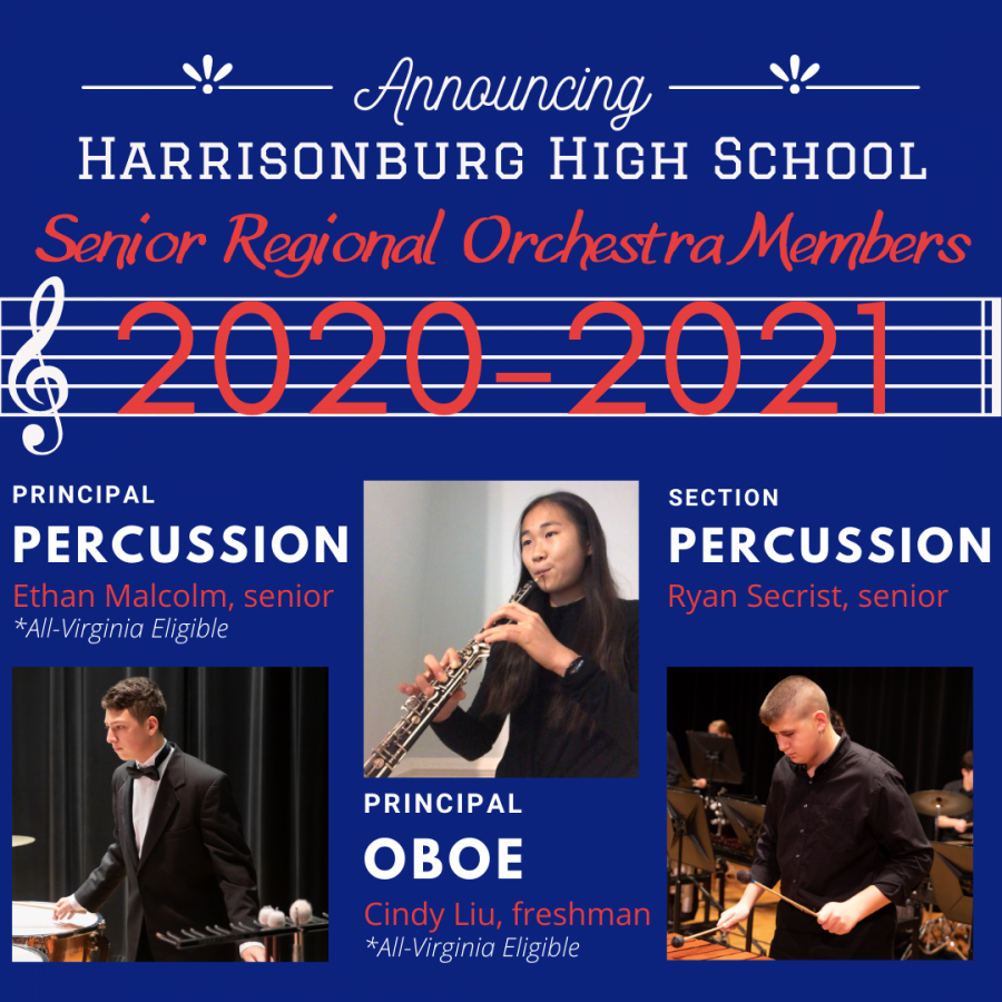 The+three+HHS+Senior+Regional+Orchestra+Members+for+the+2020-2021+year+are+seniors+Ethan+Malcolm+and+Ryan+Secrist+and+freshman+Cindy+Liu.+