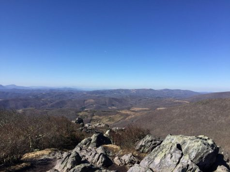 Freshman Olivia Eberly hikes in North Carolina with her family. She does most of her activities on Wednesday