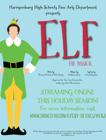 "The poster for ""Elf: The Musical."""