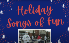 A screenshot of the introduction of the virtual holiday performance.