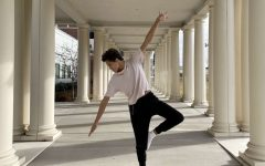 Green dances outside of James Madison University where he hopes to attend after high school.