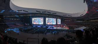 A photo of the league of legends World Championships in 2017.