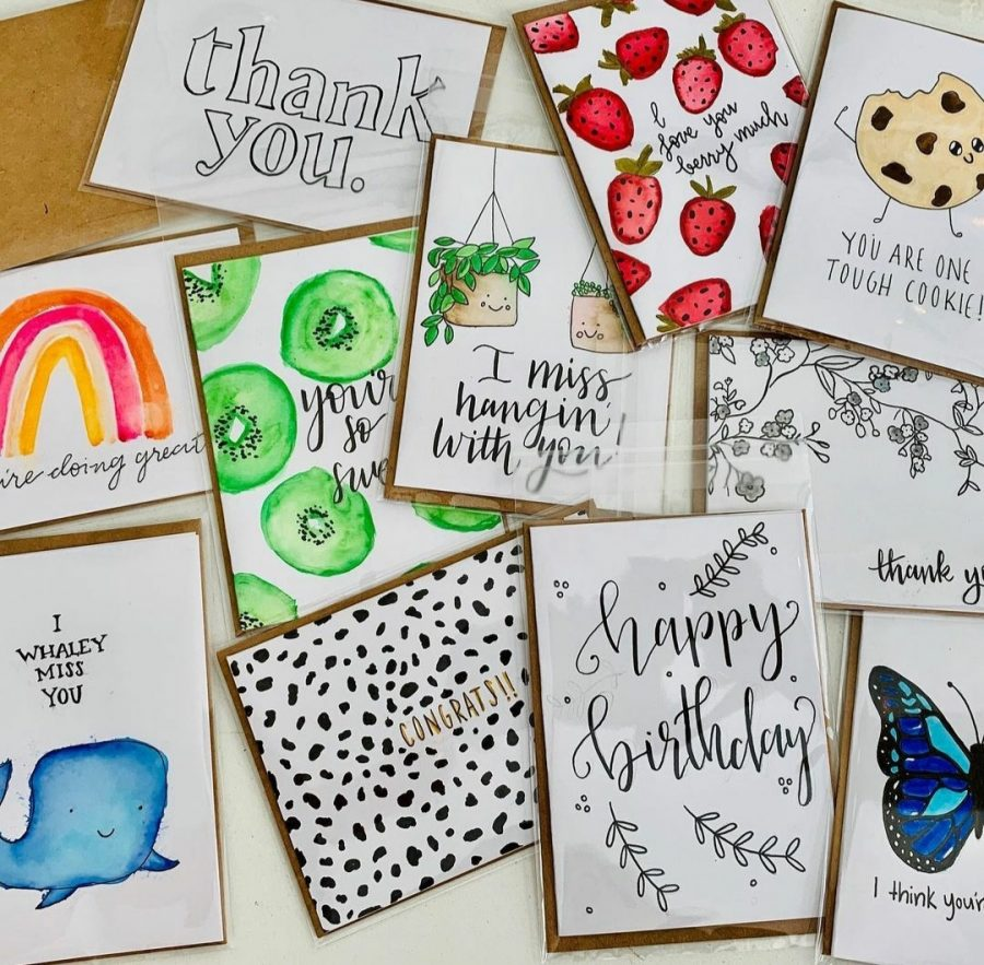 Freshman Clare Kirwan started making cards as a hobby, but after seeing another HHS student use their hobby as a business, Kirwan decided to do the same.