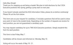 SCA election nominations are open until May 7, voting will take place May 18-21 and results will be announced May 21.