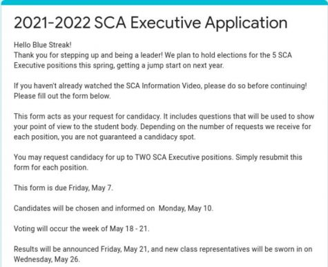 SCA holds elections for 2021-22 school year, current officers reflect on leadership experiences