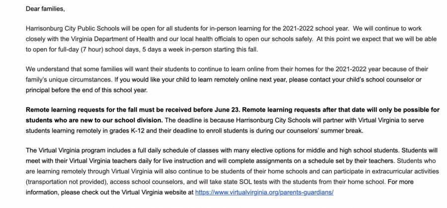 Updates on 2021-2022 school year released