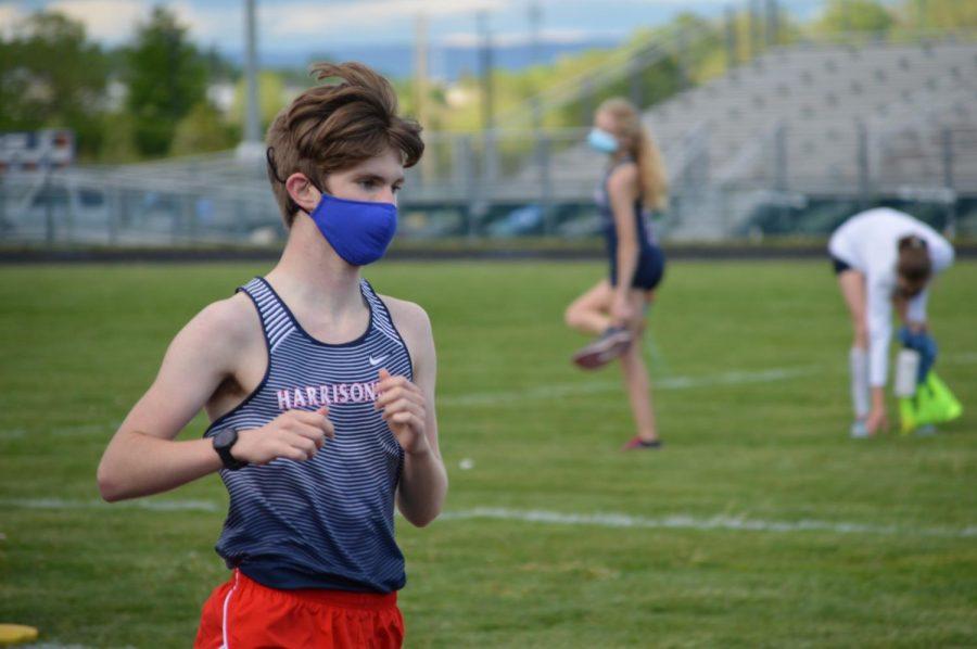 Freshman CJ Hulleman runs.