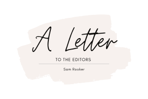 A Letter to the Editors