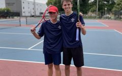 Beshoar (left) and Glago (right) after winning the Region 5D Doubles Tennis Championship.