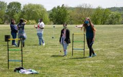 Sophomores participate in outdoor games during the Wellness Fair.